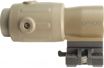 7-EOTech OPMOD MPO III EXPS2-0 Holo Sight with 3x G23 Magnifier - 65 MOA ring and 1MOA dot Reticle, Tan