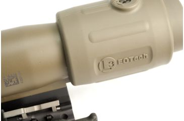 8-EOTech OPMOD MPO III EXPS2-0 Holo Sight with 3x G23 Magnifier - 65 MOA ring and 1MOA dot Reticle, Tan