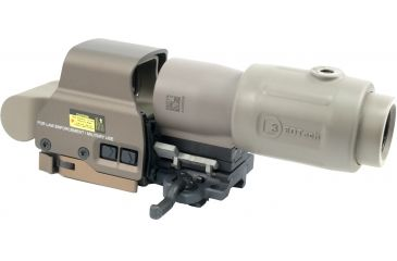 4-EOTech OPMOD MPO III EXPS2-0 Holo Sight with 3x G23 Magnifier - 65 MOA ring and 1MOA dot Reticle, Tan