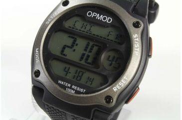 OPMOD T.E.W. 1.0 Tactical Everyday Watch, Black Case/Grey Ring /Black Strap, 44mm CS007B