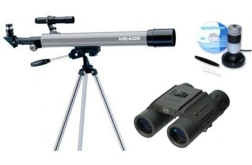 3-PC Learn and Grow Kids Gift Package - Meade 50AZ-P Telescope, Carson Digital Microscope MM-640 and Simmons Binocular 802219