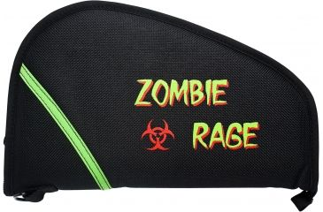 OpticsPlanet Zombie Rage Pistol Rug, Black, 13in. ZRUG13