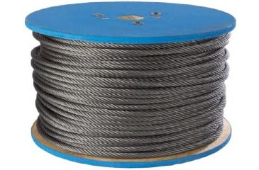 Peerless 1/8 7x7 Galv Wire Rope 500 Ft 005-4501190, Unit CS