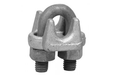 Campbell 3/8in 1000-g Wire Rope Clip 193-6990634, Unit EA