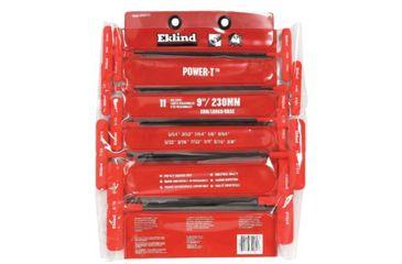 Eklind Tool 11 Key Power T Key Set In Viny 269-60611, Unit PK