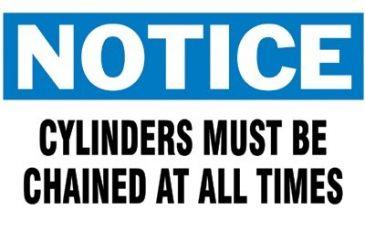 Brady 3inx5in Notice Chain Cylinders 262-60314, Unit PK