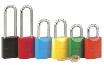 Master Lock 5 Pin Blue Safety Lockout Padl 470-6835LFBLU, Unit PK
