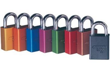 ORS Nasco Aluminum Padlock Red3in Shack 5011102516, Unit EA