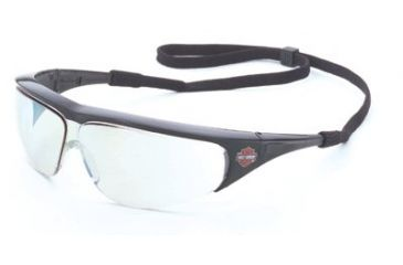 Harley-Davidson Safety Eyewear Hd 400 Series Black Frame Mirr 883-HD401, Unit EA