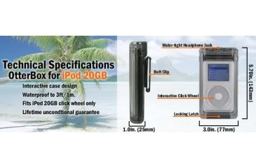 Specifications Otterbox for iPod 20Gb