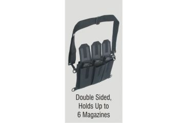 Outdoor Connection Multi-Magazine Pouch, Black PCHMMAG-28233