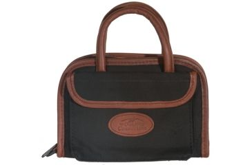 Outdoor Connection Supreme Rectangular Pistol Case Black Canvas and Leather Trim With Handle 11 Inch CSPR1018-28261