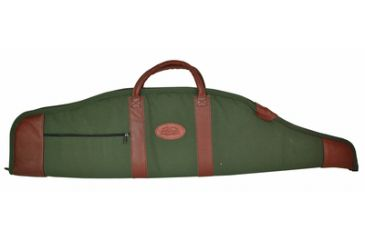 Outdoor Connection Supreme Scoped Gun Case Canvas/Leather With Pocket and Handles 38 Inch Green/Tan