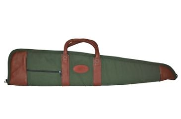 Outdoor Connection Supreme Unscoped Gun Case Canvas/Leather With Pocket and Handles 38 Inch Green/Tan