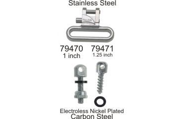 Outdoor Connection Talon Swivel Set, Stainless Steel/electroless nickel, 1.25 in. TAL-79471