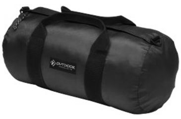 Outdoor Products Small Deluxe Duffle Bag, 4.98 gal, 9in. x 18in., Fabric, Black 202008OP