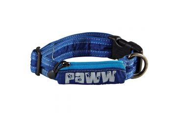 Paww Secret Agent Collar Md Blue P652
