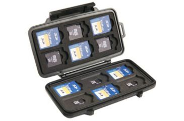Pelican 0915 Memory Card Micro Cases for 12 SD Cards and 6 Micro SD Cards