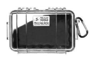 Pelican 1050 Micro Watertight Crushproof Dry Box, 7.50x5.06x3.12in - Clear w/Black Liner & Loop