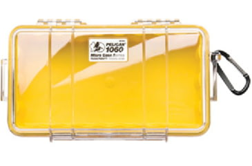 Pelican 1060 Micro Cases / Dry Boxes 1060, WL-WI-Yellow Case, Clear