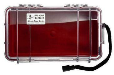 Pelican 1060 Micro Watercrushproof Dry Box 9 37x5 56x2 62in Solid Red Wcarabiner
