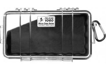 Pelican 1060 Micro Water/Crushproof Dry Box, Clear Black, Carabiner