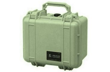 Pelican 1300 Small Watertight Case Od Green Foam 1300 000 130