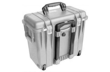 Pelican 1440 Top Loader Medium 20x12x18in Protector Case Silver No Foam