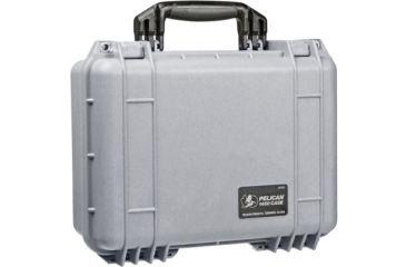 Pelican 1450 Protector Waterproof Crushproof Medium Case Silver Wfoam