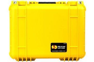 Pelican 1454 Protector Waterproof Crushproof Medium Case Yellow W Padded Dividers