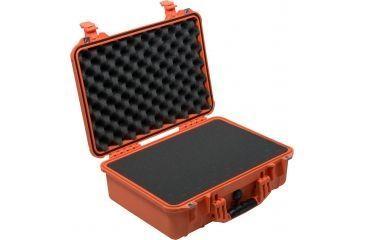 Pelican Medium Orange Case 1500 w/ Liner and Foam 1500-000-150