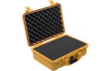 Pelican 1500 Medium Crushproof Dry Case, 18.5x14x7in, Yellow w/ Liner and Foam 1500-000-240