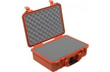 Pelican 1500nf Medium Crushproof Dry Case 18 5x14x7in Orange No Foam