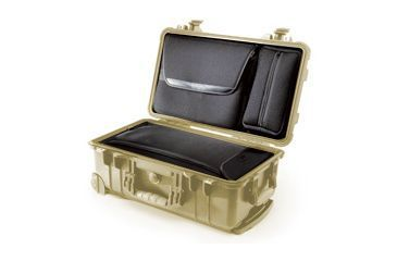 Pelican 1510LOC Carry On Protector Case with Laptop Sleeve Case Desert Tan