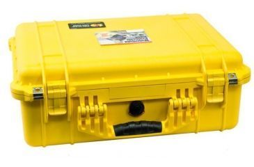 Pelican 1520 Protector 19x15x7in Watertight Carrying Case Yellow W Foam