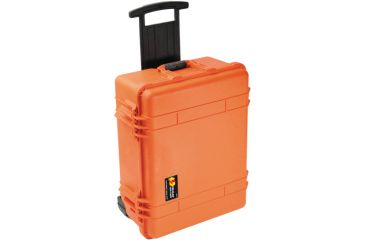 Pelican 1560 Watertight Crushproof Pressure Controlled Hard Large Case w/ Wheels, Foam - Orange
