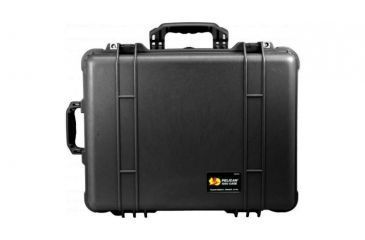 Pelican 1564 Large Crushproof Wheeled Dry Box, 22x18x10.4in, Black w/Padded Dividers