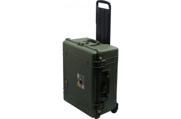 Pelican Large Green Case 1614 w/ Padded Dividers Closed 1610-024-130