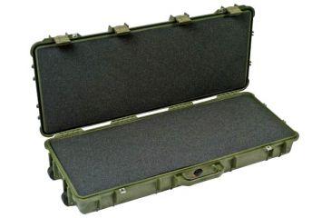 Pelican 1700 Watertight Protector Rifle Case, Wheels - 35in Long Interior, OD Green, w/ Foam