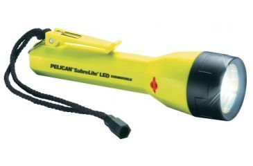 Pelican 2020 SabreLite Hi Intensity Recoil LED Flashlight, Yellow