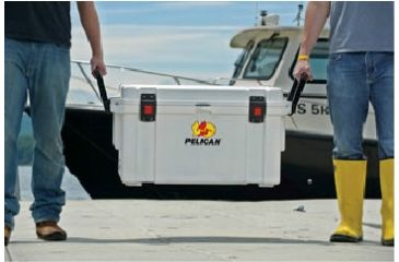 Pelican 35 Quart Marine Cooler, Lifted 32-35Q-MC-WHT