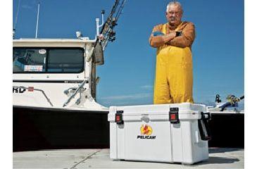 Pelican 35 Quart White Elite Marine Cooler, In Use 32-35Q-MC-WHT