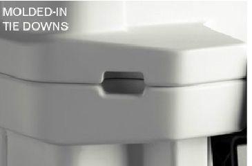 Pelican 65 Quart Elite Cooler, Molded Tie Downs 32-65Q-MC-WHT
