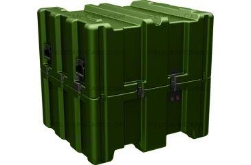 Pelican AL3834-1617 Single Lid Empty Cube Case w/ No Foam, Olive Drab AL3834-1617-RP-137