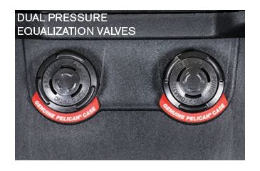 Pelican Long Case 1740 - Dual Pressure Equalization Valves