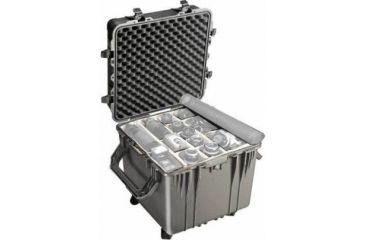 Pelican Large Cube Black Case 0354 With Padded Dividers
