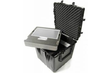 Pelican Large Cube Black Case 0374 With Padded Dividers
