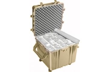 Pelican Large Cube Desert Tan Case 0354 With Dividers
