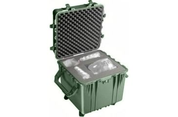 Pelican Large Cube Od Green Case 0350 With Foam