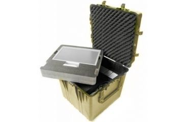 Pelican Large Desert Tan Cube Case 0374 With Dividers